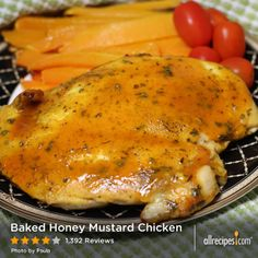 Baked Honey Mustard Chicken | This tangy-sweet baked chicken is simply seasoned and cooked, quick from start to delicious finish.