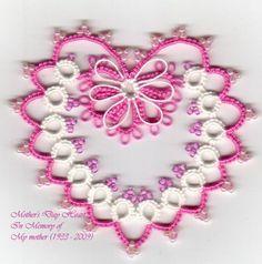 Tat-a-Renda: Mother's Day Heart  - Free pattern #tatting #heart