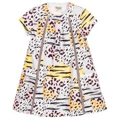 Kenzo Girls Cotton Animal Print Dress at Childrensalon.com