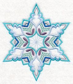 Snowflake with Flair 2 design (M10706) from www.Emblibrary.com