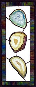 stained glass patterns using agate slices | stained glass by elana pierkowski - three agates
