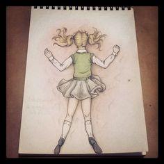 Rabisco do dia. ✒ 😉😊 #art #illustration  #ilustração #desenho #drawn #doodle…