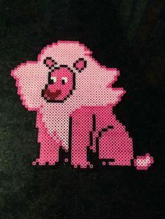 crystal–vision: My friend has made lion from steven universe! Diy Perler Beads, Perler Bead Art, Pearler Beads, Fuse Beads, Geek Cross Stitch, Beaded Cross Stitch, Pearler Bead Patterns, Perler Patterns, Diy Perler Bead Crafts
