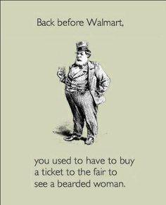 Back before Walmart