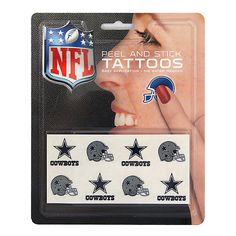 Dallas Cowboys Peel and Stick Tattoos