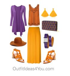 Purple is such a great color for a shaded spring. I love purple with oranges and reds... it's such a fun and dynamic color combo. This is also a great color combination to transition with into the cooler weather.  Have fun and wear what you love!  Jen Thoden