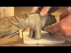 Making a Simple Animal out of Clay.... it's really not that simple...and I LOVE the mouse running around..