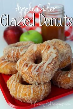 Easy Apple Cider Glazed Donuts (Made with Pillsbury Biscuits!)