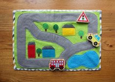 Items similar to Travel Toy, Quiet Play felt playmat- Ocean theme with figurines. on Etsy Diy For Kids, Gifts For Kids, Car Play Mats, Car Mats, Quiet Book Tutorial, Ideal Toys, Operation Christmas Child, Sewing Projects For Kids, Craft Projects