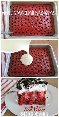 The Country Cook: Red Velvet Pudding Poke Cake
