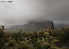 Photo of the Day | Fog enshrouds Superstition Mountain.  © Jabon Eagar - you just don't see fog every day!