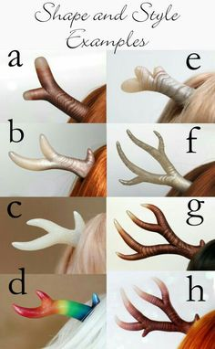 Design Your Own Custom Parts Antlers by SparrowsShop on Etsy Polymer Clay Projects, Polymer Clay Charms, Polymer Clay Creations, Polymer Clay Art, Polymer Clay Jewelry, Clay Crafts, Clay Dolls, Art Dolls, Maquillage Phosphorescent