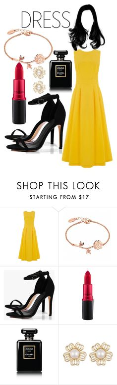 """""""Untitled #177"""" by alejomarianne on Polyvore featuring Warehouse, Boohoo, MAC Cosmetics and Chanel"""