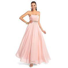 a-line/princess αγαπημένη πάτωμα-μήκους σιφόν βράδυ / χορό φόρεμα – EUR € 73.99