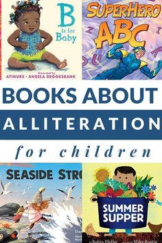 Alliteration books for kids and titles that highlight certain sounds are perfect for building phonological awareness and speech. #alliteration #booksforspeech #phonologicalawareness #figurativelanguage #GrowingBookbyBook Preschool Books, Kindergarten Activities, Book Activities, Get Reading, Early Reading, Reading Lists, Early Literacy, Literacy Centers, Teaching Letters