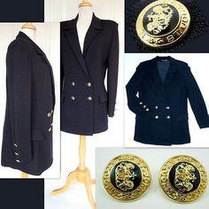 ST. JOHN BASICS Jacket/Blazer + Matching 22k Goldplated Earrings! SOLD!