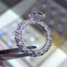 trillion cut moissanite engagement ring set,SI-H diamond wedding white gold full eternity diamond promise ring - Fine Jewelry Ideas Jewelry Rings, Jewelry Accessories, Fine Jewelry, Jewellery, Jewelry Ideas, Schmuck Design, Ring Verlobung, Dream Ring, Bridal Rings