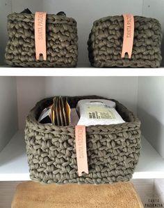 Conjunto de cestas rectangulares de trapillo | Santa Pazienzia | Bloglovin'