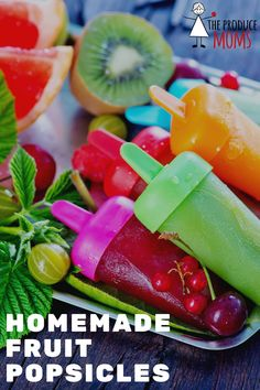 Looking for a cool treat to make with the kids for the end of summer? Check out our recipes for a variety of homemade popsicles! | The Produce Moms Eat Healthy, Healthy Desserts, Healthy Recipes, Homemade Fruit Popsicles, Some Recipe, Fruit Recipes, Kid Friendly Meals, Healthy Choices, Sweet Treats