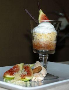 Affogato di cus cus allo zenzero con salsa di fichi al rum - ricetta inserita da Pasquale Franzese
