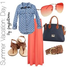 Summer Vacation: Day 1, created by joyfulemma on Polyvore