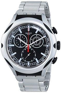 Swatch Men's YYS4000AG Irony Analog Display Swiss Quartz Silver Watch - http://brandedstore.in/product/swatch-mens-yys4000ag-irony-analog-display-swiss-quartz-silver-watch/