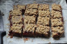 Peanut Butter and Jelly Bars inspired by that Lucy Liu scene on 'Elementary'. Check out the blog for the recipe!