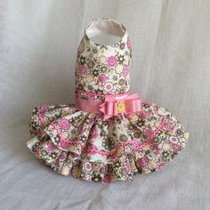 Pink Flowers Dog Dress by LittlePawsBoutique on Etsy