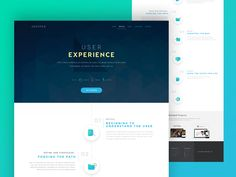 User Experience landing page