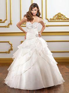 satin corset wedding dress. Love the top, not the bottom