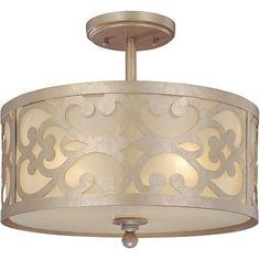 """Nanti Collection Champagne Silver 14"""" Wide Ceiling Light"""