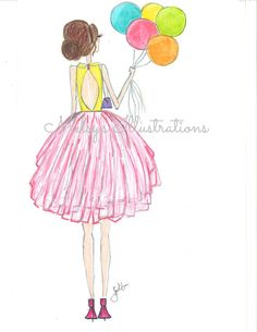 Tutu and Balloons by Melsys on Etsy Birthday Wishes, Happy Birthday, Make A Wish, How To Make, Pattern Illustration, Happily Ever After, Tutu, Balloons, Birthdays