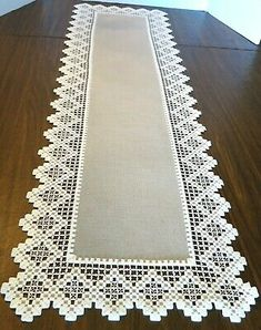 """Vtg HAND EMBROIDERED HARDANGER TABLE RUNNER -SILVER GREY WITH WHITE 13.25X41.5"""" Hardanger Embroidery, White Embroidery, Hand Embroidery, Christmas Embroidery Patterns, Embroidery Patterns Free, Bordado Popular, Shuttle Tatting Patterns, Bargello Needlepoint, Swedish Weaving"""
