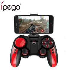 iPega Bluetooth Wireless Gamepad Game Controller Joystick for iOS Android Smartphone Windows PC with phone Holder Android Pc, Android Smartphone, Bluetooth, Joystick, Ios, Pc System, Selfie Stick, Game Controller, Mobile Game
