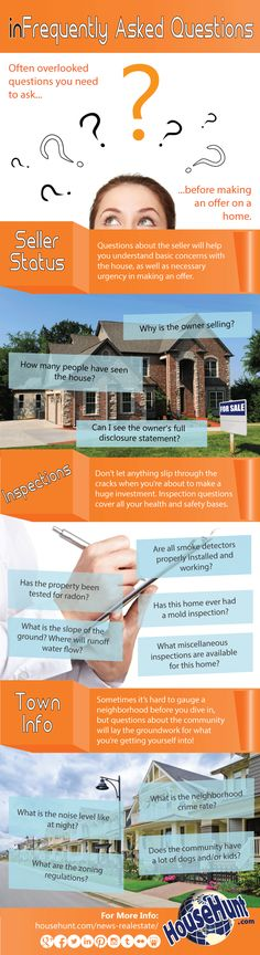 Here are the most often overlooked questions to ask before buying a house to make sure you don't run into problems down the road!