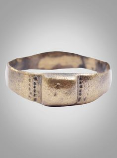 Medieval Woman's Wedding Ring C.13th-15th Century Size 9 (18.6mm)(BRR942)