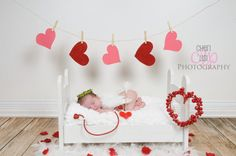 Cupid Red and White Heart Bow and Arrow Set - Perfect Valentines Day or Sweethearts Boy or Girl Newborn Photo Prop on Etsy, $14.00