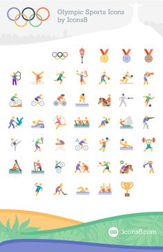 Freebie: Olympics Sports Icon Set (45 Icons EPS PDF PNG SVG)  Design Smashing…