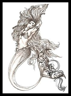 Mermaid Legacy - Pencil Drawing - By Derrick Rathgeber