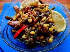 Ton cu fasole verde si porumb Kung Pao Chicken, Chinese, Ethnic Recipes, Food, Green, Salads, Essen, Meals, Yemek