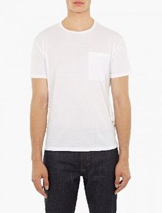 Valentino White Rockstud T-Shirt The Valentino Rockstud T-Shirt, seen here in white. - - - As part of the brand™s pre-AW16 collection, this t-shirt from Valentino is crafted from premium cotton and features a row of gold pyramid stud http://www.MightGet.com/january-2017-13/valentino-white-rockstud-t-shirt.asp