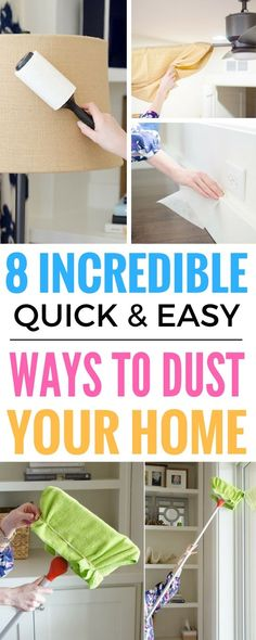 8 Incredibly Easy Ways To Dust Your Home - Literally the BEST dusting hacks and tips that I've read so far. Now everything becomes so easy. Cleaning Tips And Tricks