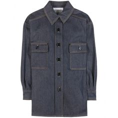 Chloé - Denim shirt - Chloé s SS15 runway was awash with luxe denim pieces  like this 30dcf6f700a
