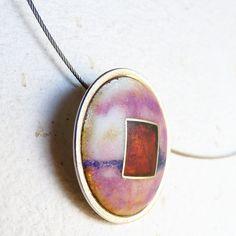 Matte Purple Enamel on Silver Pendant / Colgante de Plata y Esmalte Ópalo al Fuego. Matizado, por MNesmalts, €153.00