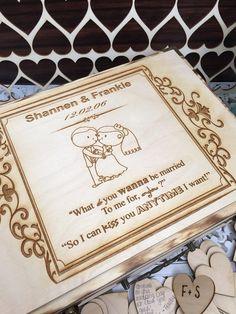 Large Rustic wedding guest book alternative / guest book / memory box / wood burned box / keepsake box/ sweet home alabama