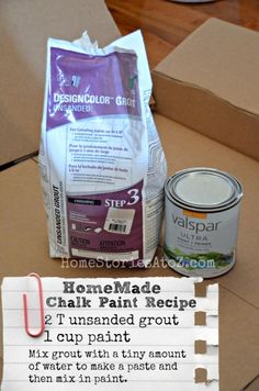 homemade chalk paint recipe                                                                                                                                                      More