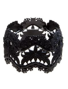 Black Bead Lace Effect Stretch Bracelet discovered on Fantasy Shopper Bead Jewellery, Jewelry Party, Beaded Jewelry, Jewelry Bracelets, Jewelery, Bangles, Goth Glam, New Look Fashion, Diamond Are A Girls Best Friend