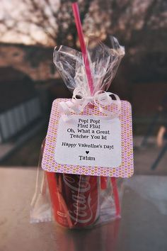 "Pop! Pop! Fizz! Fizz! Oh, What a Great Teacher You Is! Happy ""Valentine's Day"" ♥ Ellery"