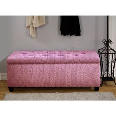 Sole Secret Pink Tower Shoe Storage Bench | Overstock™ Shopping - Great Deals on Benches