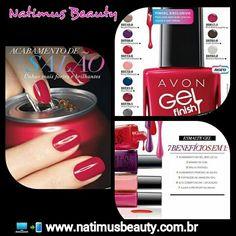 Esmaltes Avon Gel Finish  www.natimusbeauty.com.br